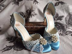 Something blue shoes fit for a princess!