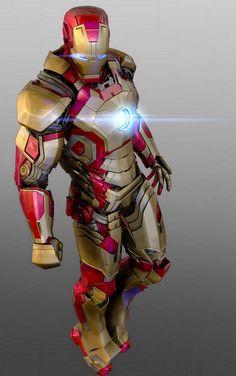 Iron man mark 42 by - mars - CGHUB This looks badass. Hq Marvel, Marvel Dc Comics, Marvel Heroes, Comic Book Characters, Marvel Characters, Comic Character, Iron Man Armor, Iron Man Suit, Hulk