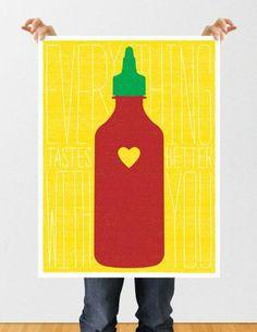 Sriracha Fan Art // Poster // Print