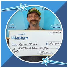 """Aaron Brown of #SergeantBluff claimed a $50,000 top prize he won playing the """"$50,000 Super Crossword"""" scratch game! Congrats! #WooHooForYou He purchased the lucky ticket at Pilot Travel Center, 2815 Singing Hills Blvd. in #SiouxCity. Travel Center, Pinch Me, Sioux City, Winning The Lottery, Crossword, I Win, Ticket, Pilot, Singing"""