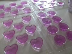 DIY Soap Favors...this just made me think we could always do chocolate molds for the favors for the bridal shower or the wedding...they even have purple chocolate!  Maybe put them in like a cute little bag...it would be time consuming but cheap and easy!