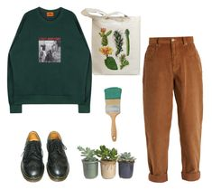 """green day"" by julietteisinthe80s on Polyvore featuring Retrò, Dr. Martens, Miu Miu and Hostess"