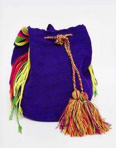 f1e7dba8cf8f Jardin Del Cielo Wayuu Mochila Bag in Purple