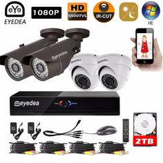 329.99$  Watch here - http://alir8n.shopchina.info/1/go.php?t=32805969794 - Mother's Day Eyedea Surveillance DVR 8 CH Motion Detect Recorder 1080P Bullet Dome Night Vision CCTV Security Camera System 2TB  #bestbuy