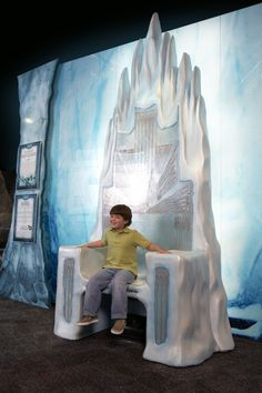 Full white witch's ice throne used in movie