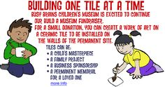 A fantastic way to give to Busy Brains Children's Museum. Design a tile which will be displayed in the permanent museum