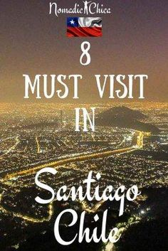 If you plan to visit Chile capital, Santiago you will must visit some of this places! Have you visited? Click the pin for more info!
