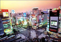 Shibuya Crossing.  Tokyo, Japan