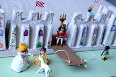 Bricolage château avec des bouts de cartons