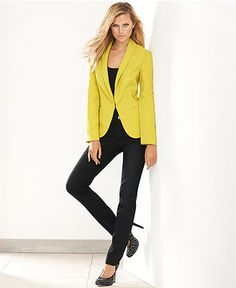 INC International Concepts Boyfriend Blazer & Skinny Jeans - Womens - Macy's