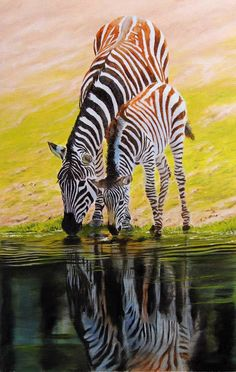 zebra painting for sale – How to Draw and Paint Animals – Wildlife Art Videos, Pastel pencil and oil painting Lessons Zebra Painting, Zebra Art, Mural Painting, House Painting, The Animals, Zebra Pictures, Animal Pictures, Zebras, Wild Life