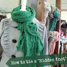 scarf tying hidden knot how to