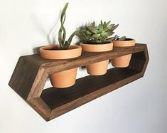 Hexagon Wall Hanging Planter homeProjects is part of Wood planters - Wall Mounted Planters, Wood Planters, Planter Boxes, Hanging Planters, Succulent Planters, Wooden Projects, Home Projects, Wood Crafts, Plant Shelves