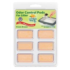 Citrus Magic Litter Box Odor Controlling Pods Ocean Breeze Scent 1 Pack 6 Pods * More info could be found at the image url.(This is an Amazon affiliate link and I receive a commission for the sales)