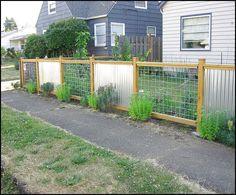 corregated metal fence | Best Fence Design Ideas | Fence Design Reference!