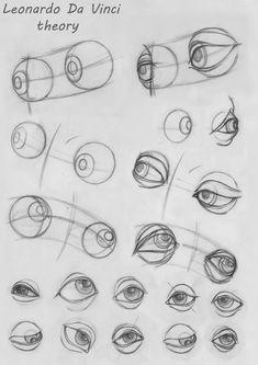 Eye Anatomy, Human Anatomy Drawing, Human Figure Drawing, Anatomy Art, Basic Drawing, Drawing Skills, Drawing Lessons, Pencil Art Drawings, Realistic Drawings
