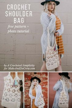 Lacy, Yet Sturdy Crochet Shoulder Bag – Free Tote Bag Pattern + Tutorial – Crochet Bag İdeas. Free Crochet Bag, Crochet Market Bag, Crochet Handbags, Crochet Purses, Cotton Crochet, Crochet Clutch, Crochet Bags, Bag Pattern Free, Tote Pattern