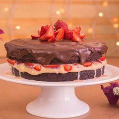 Receita de Naked Cake de Brownie