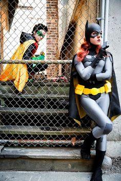 Robin and Batgirl.