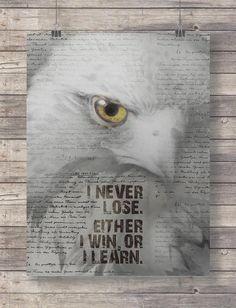 Inspirational Wall Art Hawk Wall Art Print Animal by TinyBirdsMM