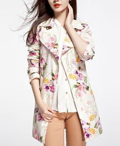 Rocking this floral coat