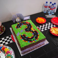 My son's race car cake made by my Mum