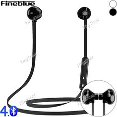 FineBlue Wireless Bluetooth 4.0 Magnetic Sport Headset Stereo Earphone with Mic for Smartphone iPhone EEP-496991