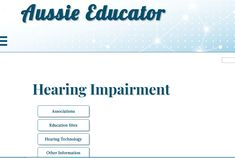 This resource has a few different websites attached that are useful for the hearing impaired