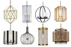 8 Fabulous pendants for the foyer, the stairwell, the family room, the table, the island. Possibilities are endless. We love all the finish options!