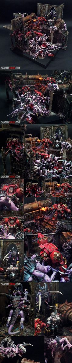 Blood Angels, Object Source Lighting, Space Hulk, Space Marines, Tyranids