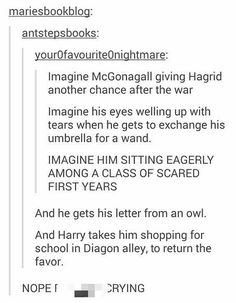 When Hagrid goes back to school