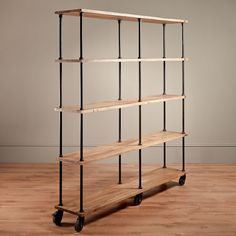 iron and wood shelves | Large Iron and Wood Factory Shelves (to replace pantry in kitchen)