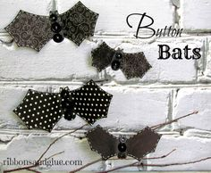 Add these simple Button Bats to your Halloween Decor by using a template or a die cutting machine then add buttons!  You could make a whole wall of them!