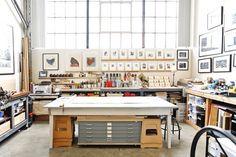 Estúdio loft de um artista