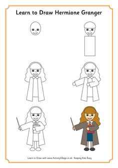 Learn to draw Hermione Granger