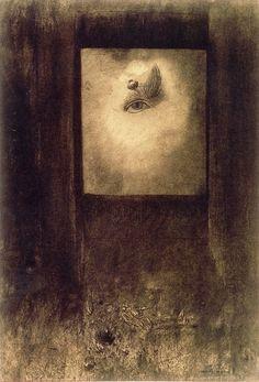 Eye with Poppy, Odilon Redon, 1892.