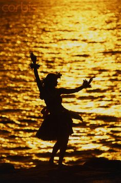 Pretty silhouette - Hawaiian dancer...been there when I was a little kid but don't remember anything :(  I need to go back :)
