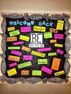 Great idea for a back to school bulletin board! Great idea for a back to school bulletin board! Back To School Bulletin Boards, Middle School Classroom, Classroom Bulletin Boards, Classroom Door, Classroom Ideas, High School, Pta School, School Office, Future Classroom