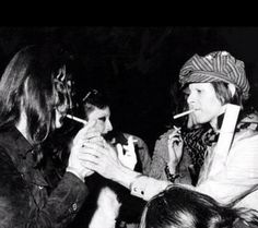 John Lennon and David Bowie 70s.
