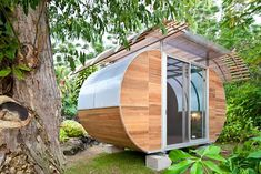 House Arc: garden office shed or guest house -- ships flat and easy to assemble, just like an Ikea product!