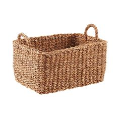 Large Hogla Storage Bin with Handles - Bed Room Large Toy Storage, Toy Storage Baskets, Fabric Storage Bins, Basket Shelves, Decorative Storage, Book Shelves, Chester, Wicker Baskets, Attic