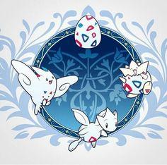Togepi, Togetic, Togekiss, evolution, cool, egg, cycle; Pokemon