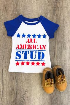 eb3b40d431bd Our adorable patriotic t-shirt is perfect for your little boy.