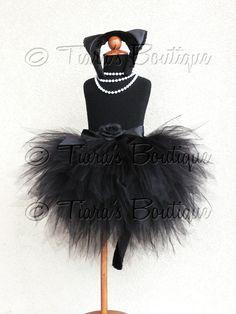 Black Cat Tutu Halloween Costume Obsidian Kitty by TiarasTutus