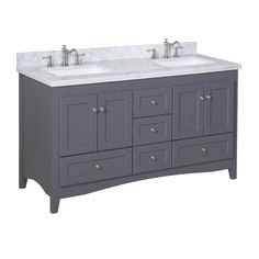 "You'll love the Abbey 60"" Double Bathroom Vanity Set at Wayfair - Great Deals on all Home Improvement  products with Free Shipping on most stuff, even the big stuff."