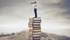 Гай, телескоп, книги, местность вектор
