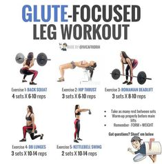 Quick & effective glute focused leg and butt workout. If youre not able to perform some of these exercises feel free to substitute them with the similar ones and dont start too heavy if its your first time trying them. Weights Workout For Women, Gym Workout Plan For Women, Workout Plans, Weight Excercises For Women, Weight Lifting For Women, Leg Workout Women, Gym Workouts Women, Easy Ab Workout, Squat Workout