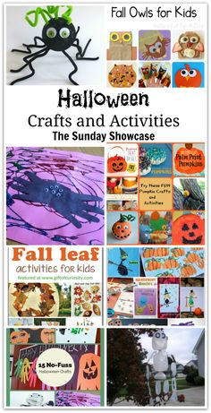 Awesome Halloween Crafts and Activities #halloween #craftsforkids #leafactivities