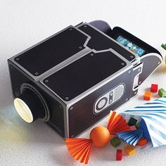 smartphone projector by luckies | notonthehighstreet.com Such a good idea for Old school film nights!
