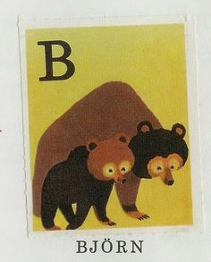 The most perfect animal alphabet designed for a Swedish savings bank by Staffan Wirén.